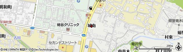 福島県会津若松市門田町大字黒岩(城南)周辺の地図