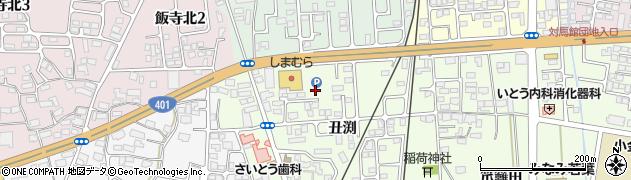 福島県会津若松市門田町大字日吉(丑渕)周辺の地図