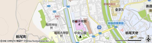 新潟県長岡市中央公園周辺の地図