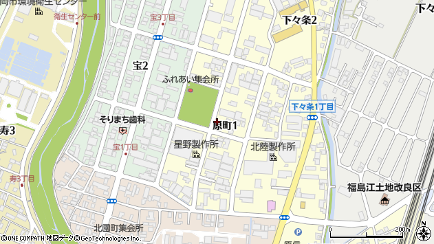 〒940-0013 新潟県長岡市原町の地図