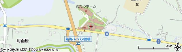 福島県郡山市熱海町玉川(高畔)周辺の地図