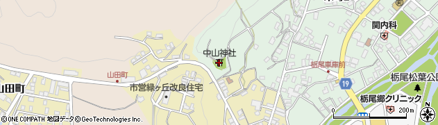 中山神社周辺の地図