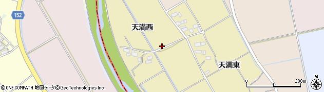 福島県会津若松市北会津町天満周辺の地図