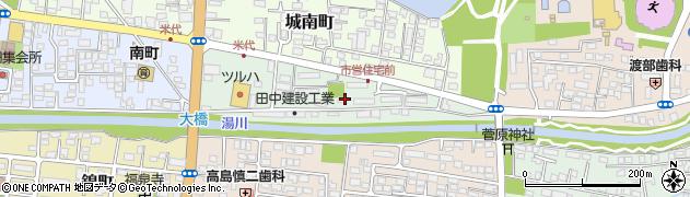 福島県会津若松市南町周辺の地図