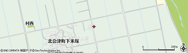 福島県会津若松市北会津町下米塚(小姓)周辺の地図