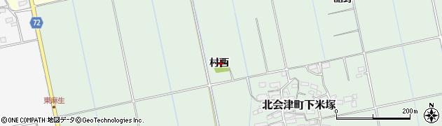 福島県会津若松市北会津町下米塚(村西)周辺の地図
