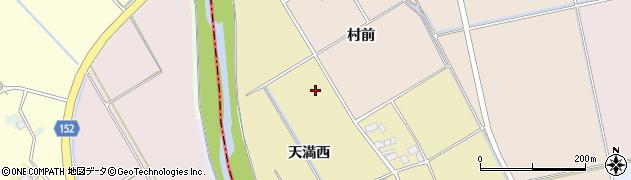 福島県会津若松市北会津町天満(天満)周辺の地図