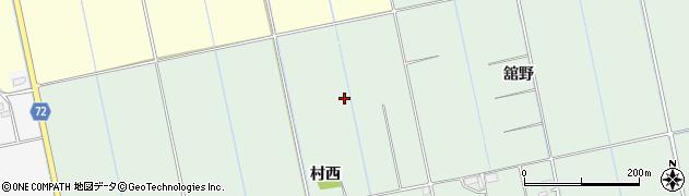 福島県会津若松市北会津町下米塚(小姓川原)周辺の地図