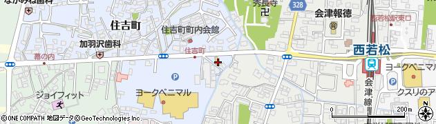 株式会社三協会津若松営業所周辺の地図