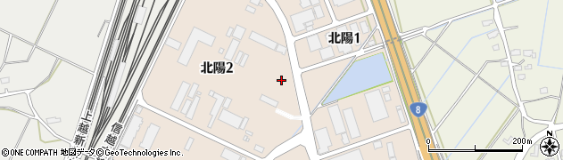 新潟県長岡市北陽周辺の地図