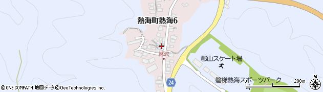 福島県郡山市熱海町高玉(林ノ沢)周辺の地図