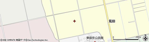福島県会津若松市北会津町中荒井(六百苅)周辺の地図