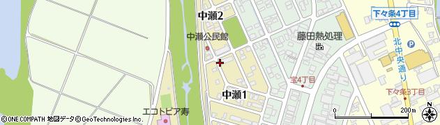 新潟県長岡市中瀬周辺の地図