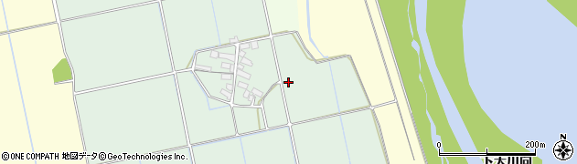 福島県会津若松市北会津町下米塚(新田村東)周辺の地図