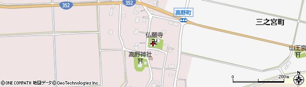 仏願寺周辺の地図