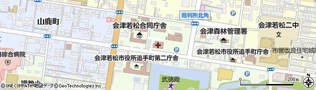 福島地方法務局 若松支局人権相談周辺の地図