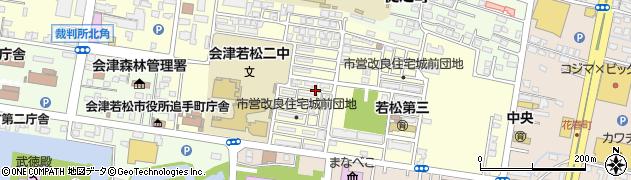 福島県会津若松市城前周辺の地図