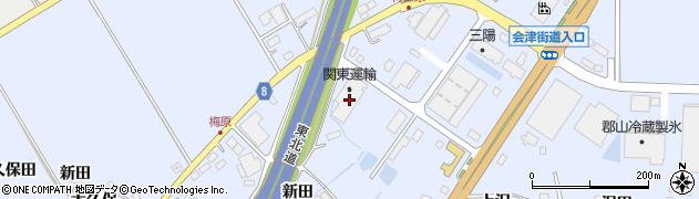 関東運輸株式会社 福島物流センター周辺の地図