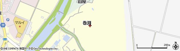 新潟県長岡市巻渕周辺の地図