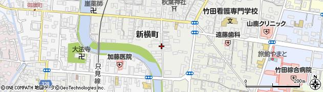 福島県会津若松市新横町周辺の地図