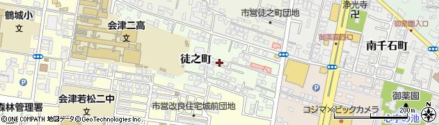 福島県会津若松市徒之町周辺の地図