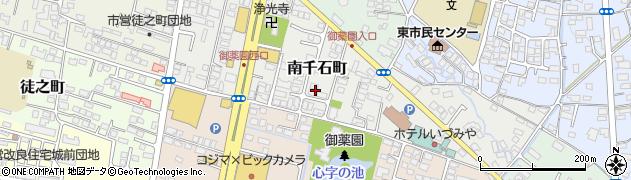 福島県会津若松市南千石町周辺の地図