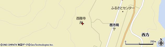 西隆寺周辺の地図