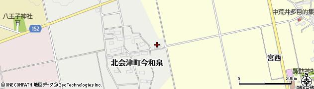 福島県会津若松市北会津町今和泉(的場)周辺の地図