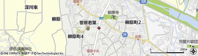 福島県会津若松市柳原町周辺の地図
