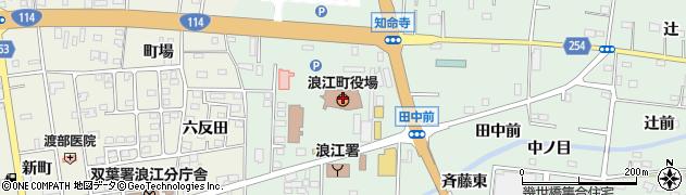 福島県双葉郡浪江町周辺の地図