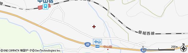 福島県郡山市熱海町中山(稲田)周辺の地図