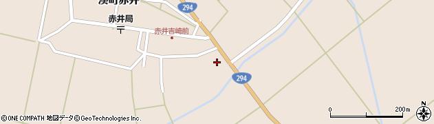 福島県会津若松市湊町大字赤井(廟所)周辺の地図