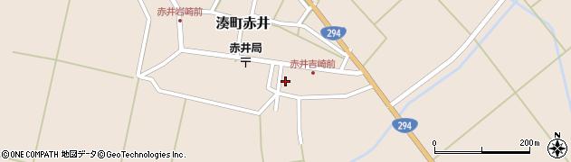 福島県会津若松市湊町大字赤井周辺の地図