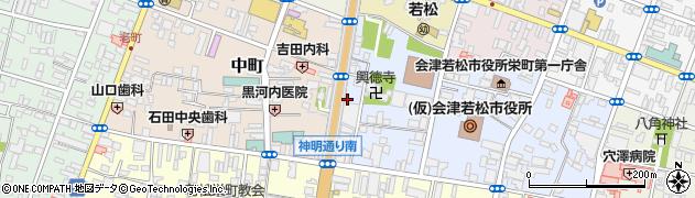 会津ロック・センター周辺の地図