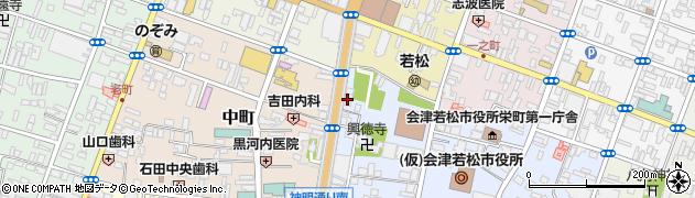 NOVA 福島・会津若松神明通り校周辺の地図