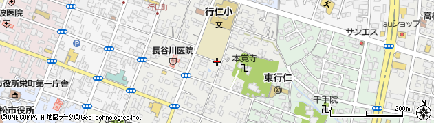 福島県会津若松市行仁町周辺の地図