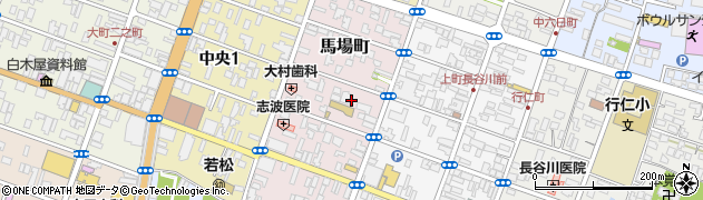 福島県会津若松市馬場町周辺の地図