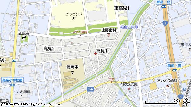 〒940-0003 新潟県長岡市高見の地図