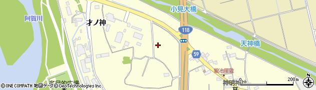 福島県会津若松市神指町大字南四合(才ノ神)周辺の地図