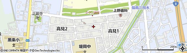 新潟県長岡市高見周辺の地図