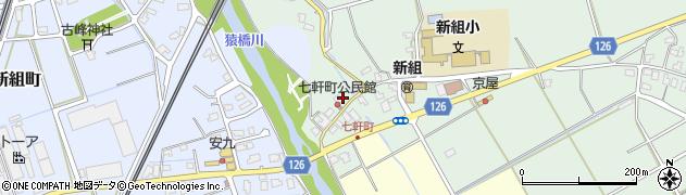 新潟県長岡市七軒町周辺の地図