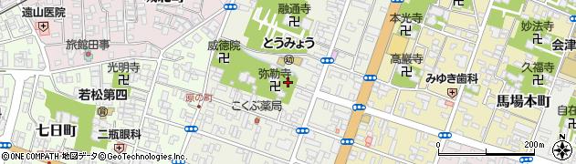 福島県会津若松市大町周辺の地図