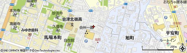 福島県会津若松市相生町周辺の地図