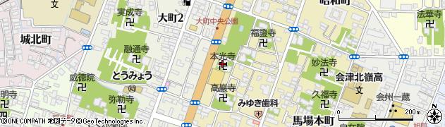 飛龍山本光寺周辺の地図