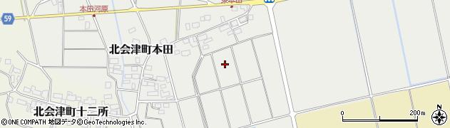 福島県会津若松市北会津町本田(台ノ上)周辺の地図