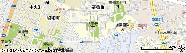 福島県会津若松市蚕養町周辺の地図