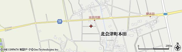 福島県会津若松市北会津町本田(掘込)周辺の地図