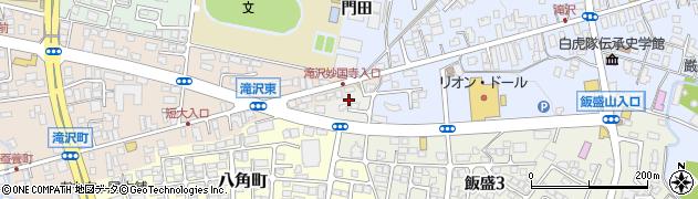 福島県会津若松市一箕町大字八角周辺の地図