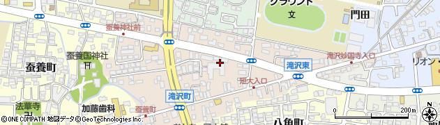 福島県会津若松市滝沢町周辺の地図