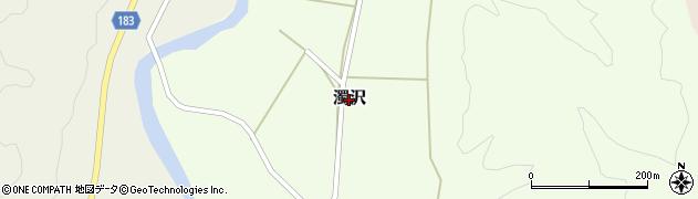 新潟県三条市濁沢周辺の地図